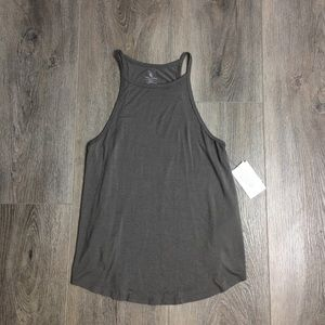 Volcom Taupe Lived In High Neck Tank Top
